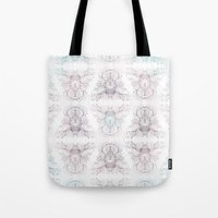 marie antoinette Tote Bags featuring Marie Antoinette by Frances Louw