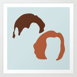 Mulder and Scully, X-Files Art Print