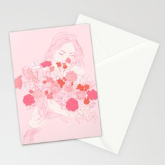 pink bouquet Stationery Cards