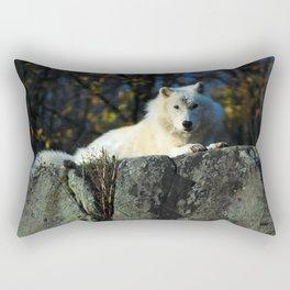 Sentinel: Arctic Wolf Rectangular Pillow
