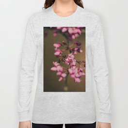 Bee on Redbud Long Sleeve T-shirt