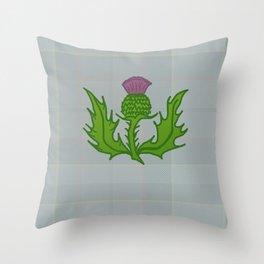 scotland thistle Throw Pillow