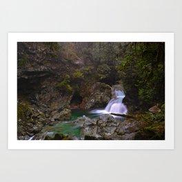 Crystal Clear Waterfall, British Columbia Art Print