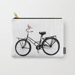 Baker's bicycle with bird Carry-All Pouch