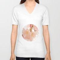 bokeh V-neck T-shirts featuring Cherry Bokeh by secretgardenphotography [Nicola]