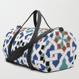 Geometric Pattern - Oriental Design Pt. 7x - seamless design ,blue, green Duffle Bag