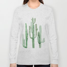 Three Amigos White + Green by Nature Magick Long Sleeve T-shirt