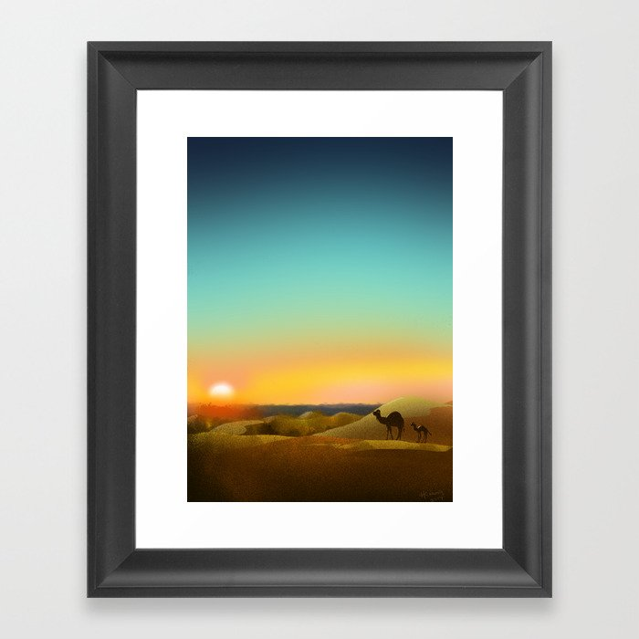 Sahara Sunset Framed Art Print