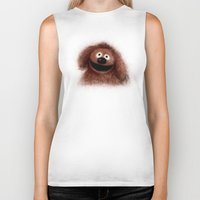 muppets Biker Tanks featuring Rowlf, The Muppets by KitschyPopShop