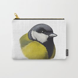 Great tit bird (Parus major) sketch Carry-All Pouch