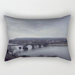 Arkansas River Bridge Rectangular Pillow