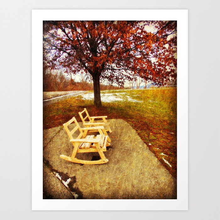 Come Sit Stay Awhile Art Print By Delayne Society6
