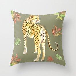 Cheetah Clearing Throw Pillow