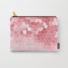 Mosaic Blush Pink Cabbage Abstract Art | Spring Carry-All Pouch