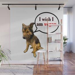 Funny Vegan - Funny Dog Memes Wall Mural