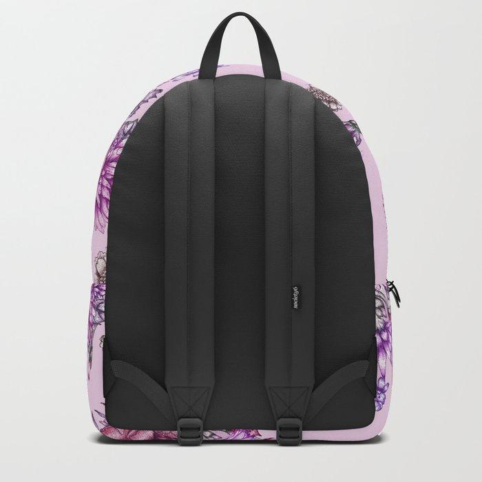 Pink Vintage Florals Backpack