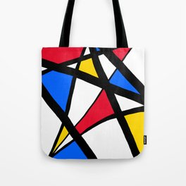 Red, Yellow, Blue Primary Abstract Tote Bag