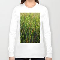 grass Long Sleeve T-shirts featuring Grass by Efua Boakye