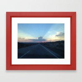 Sunset on the Road Framed Art Print