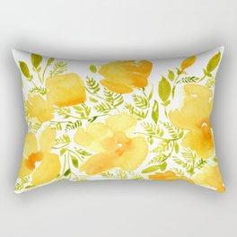 Watercolor California poppies (Quad set, #2) Rectangular Pillow