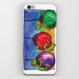 Christmas Frogs on Baubles iPhone Skin