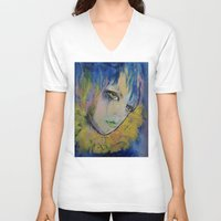 indigo V-neck T-shirts featuring Indigo by Michael Creese
