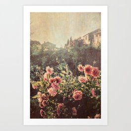 French country village Art Print