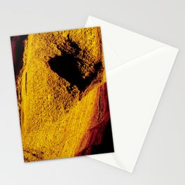 Violet Yellow Stone Stationery Cards