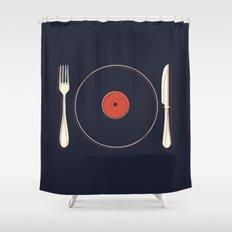 Vinyl Food Shower Curtain