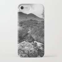 cassia beck iPhone & iPod Cases featuring Cinnerdale Beck above Crummock Water with Whiteless Pike beyond. Lake District, UK. by liamgrantfoto