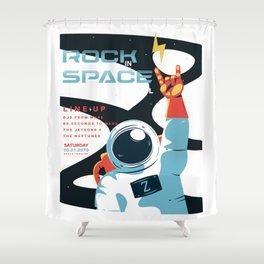 Space Rock Music Festival Shower Curtain