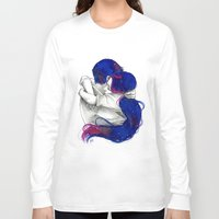 lovers Long Sleeve T-shirts featuring Lovers by Sahra Draws
