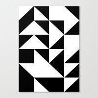 yin yang Canvas Prints featuring Yin Yang by Jar Lean