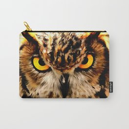 owl look digital painting reacstd Carry-All Pouch