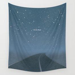 "Jack Kerouac ""On the Road"" - Minimalist literary art design, bookish gift Wall Tapestry"