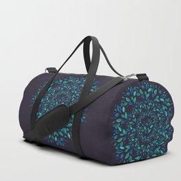 Blue Leaves Mandala Duffle Bag