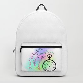 I can't go back to yesterday (Alice in Wonderland) Backpack