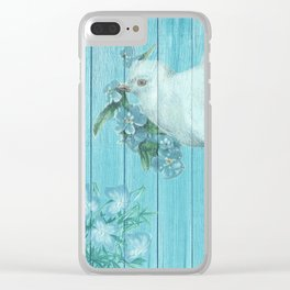 Shabby Chic Dove Of Peace Clear iPhone Case