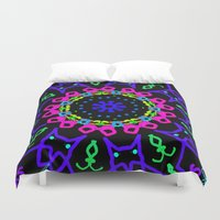 kindle Duvet Covers featuring Nightowl by Tammi Hofstetter