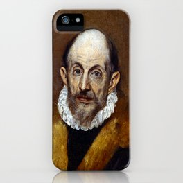 El Greco Portrait of an Old Man iPhone Case