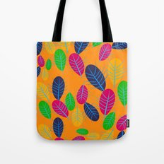 Fall Leaves Pop Pattern Design Tote Bag