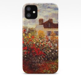 The Garden of Monet at Argenteuil, 1873 by Claude Monet iPhone Case