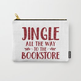 Jingle All The Way To The Bookstore (Red) Carry-All Pouch