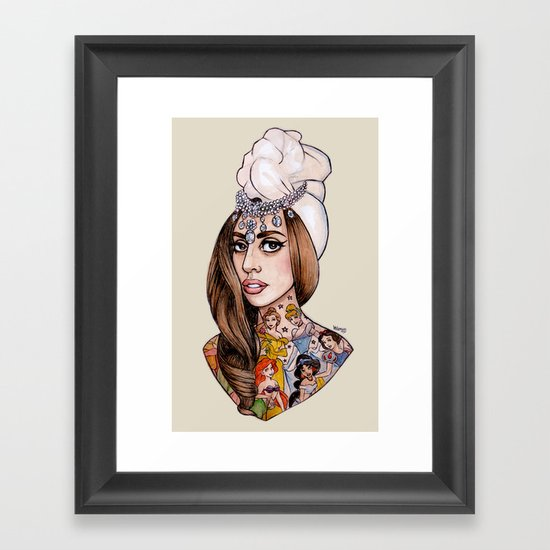 Princess High Framed Art Print