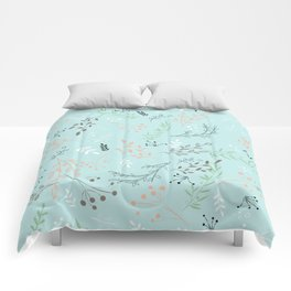 Light And Lovely Spring Floral Garden Pattern Comforters