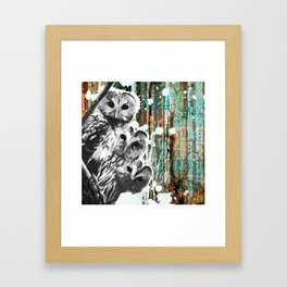 Rusty Owls in the Snow Framed Art Print