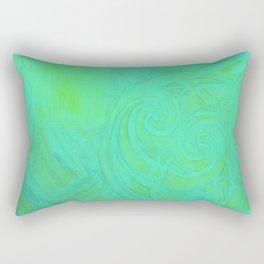 Green Celtic Knot Rectangular Pillow