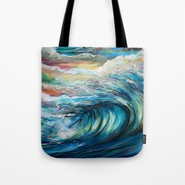 The Rainbow Wave Tote Bag
