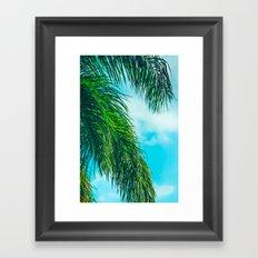 Tropical Palms Maui Hawaii Framed Art Print