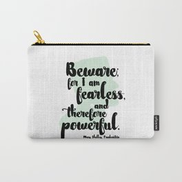 Frankenstein + Mary Shelley Quote #1 Carry-All Pouch